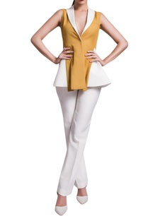 mustard-yellow-white-jacket-with-trousers