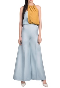 powder-blue-and-mustard-yellow-jumpsuit
