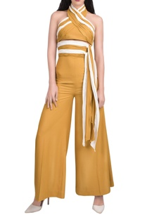 mustard-yellow-white-halter-jumpsuit