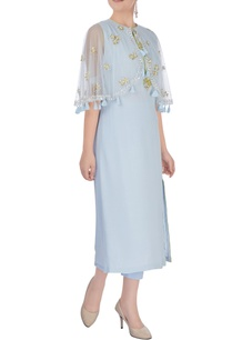 pastel-blue-embroidered-poncho
