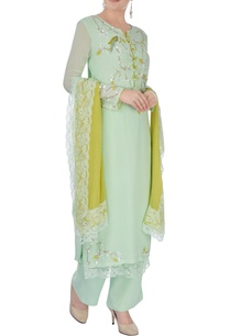 pista-green-embroidered-kurta-set