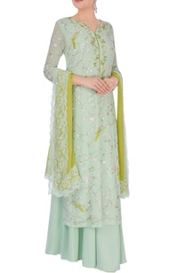 pista-green-kurta-set