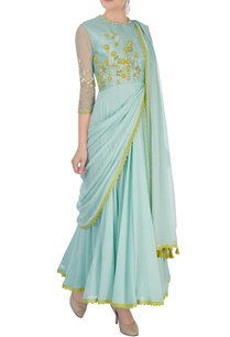 aqua-green-embroidered-anarkali-set