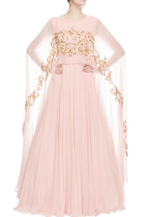 pink-anarkali-with-cape