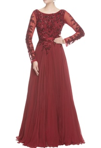red-sequin-and-cutdana-gown