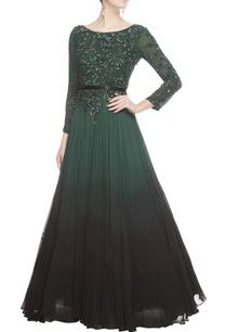 dark-green-black-sequin-gown
