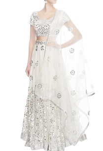 white-lehenga-with-silver-sequin-work