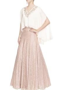 white-draped-blouse-maxi-skirt