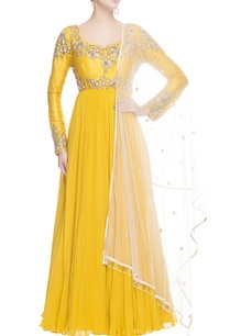 canary-yellow-anarkali-with-metal-embroidery