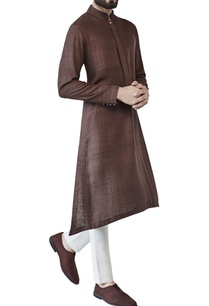 brown-asymmetric-style-kurta