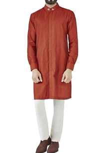 rust-hand-embroidered-kurta