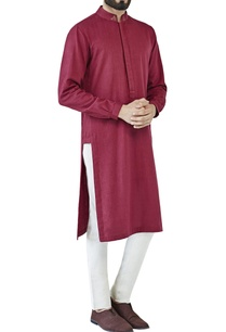 plum-purple-kurta-with-embellished-collar