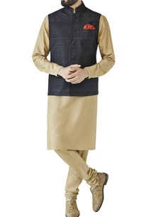 black-nehru-jacket-with-fabric-buttons