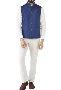 navy-blue-traditional-nehru-jacket