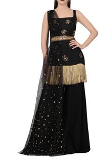 black-gold-kurta-set