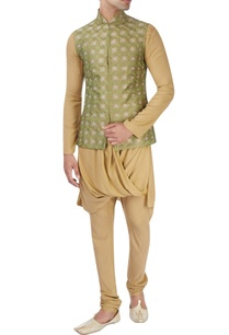 green-machine-embroidered-nehru-jacket-set