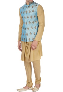 sky-blue-machine-embroidered-nehru-jacket-set