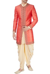 rust-orange-aari-work-sherwani