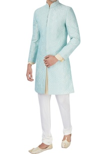 aqua-blue-machine-embroidered-sherwani-set
