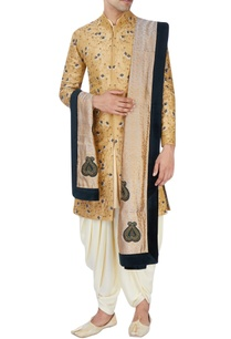 gold-floral-sherwani-set