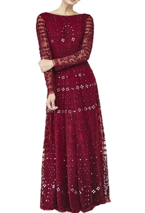 ruby-red-mirrorwork-gown