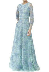 aqua-blue-embellished-gown