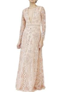 beige-mirror-work-gown