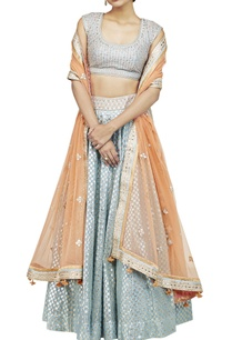 powder-blue-orange-lehenga-set