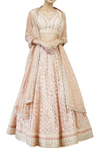 peach-brocade-lehenga-set