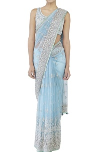 powder-blue-embroidered-sari-choli