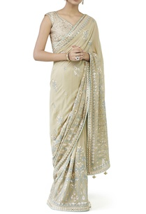 champagne-embroidered-sari-choli
