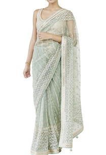 sage-green-embroidered-sari