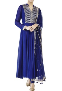 blue-georgette-suit