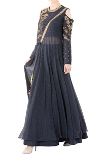 charcoal-grey-ankgrakha-gown-with-zari-work