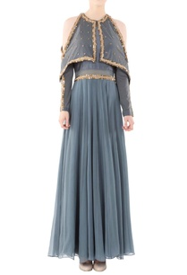 dusky-grey-draped-gown-nalki-beadwork
