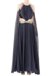 charcoal-grey-angrakha-gown-with-cutdana-and-zari-work