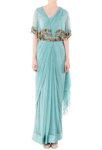 pastel-green-cape-gown-with-zari-work