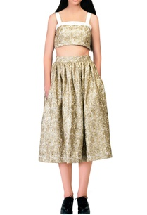 gold-embroidered-midi-skirt
