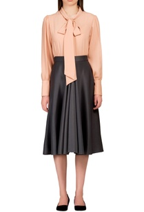 salmon-pink-blouse-with-bow-detail