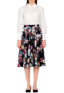 multicolored-floral-scuba-style-skirt