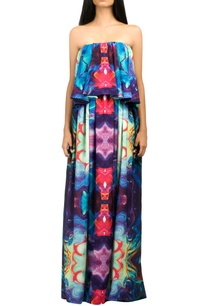 multicolored-tube-gown