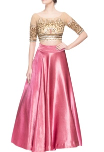 pink-embellished-skirt-set