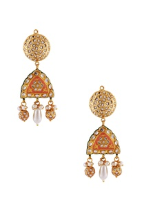 gold-plated-meenakari-earrings