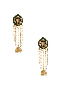 green-meenakari-drop-earrings