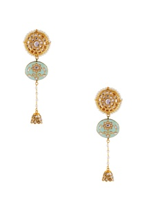 turquoise-blue-kundan-pachi-earrings