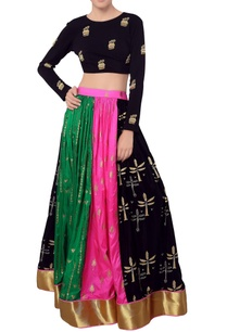 multi-colored-lehenga-blouse
