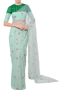 mint-sheer-sari