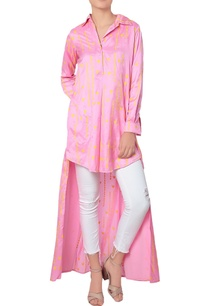pink-high-low-printed-kurta
