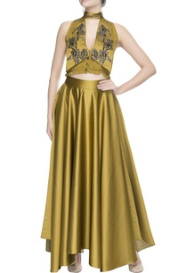 gold-yellow-embellished-blouse-skirt