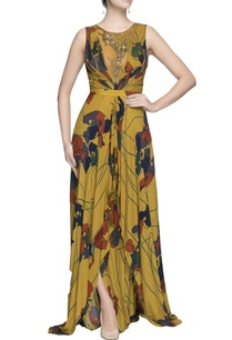 mustard-yellow-printed-maxi-dress